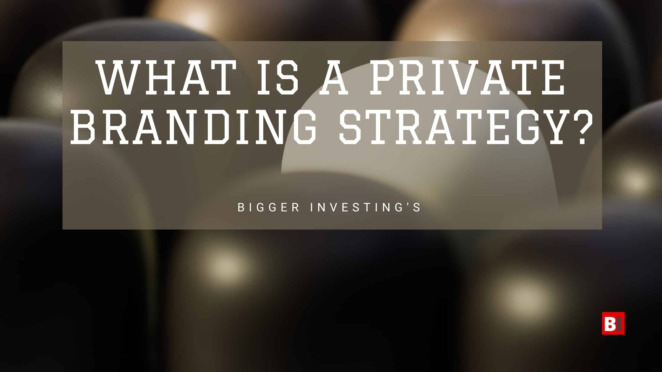 What is a Private Branding Strategy?